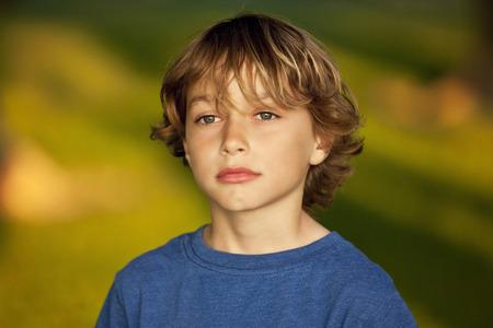 8 9 years: Closeup Of A Sad Child