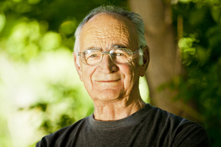 Elderly Man Smiling At The Camera