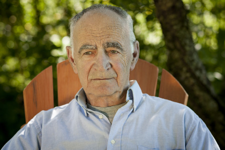 lost in thought: Portrait of Elderly man lost in thought