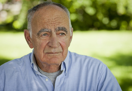 man close up: Portrait of Elderly man lost in thought