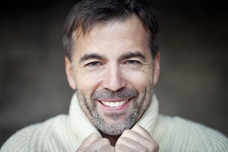 one senior man only: Mature Man Smiling