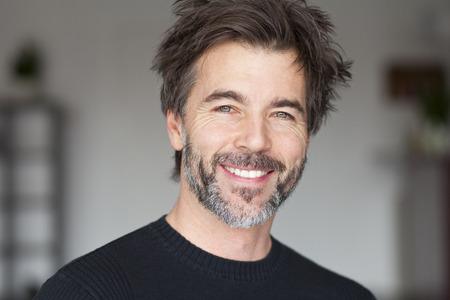 Mature Man Smiling And Having Fun