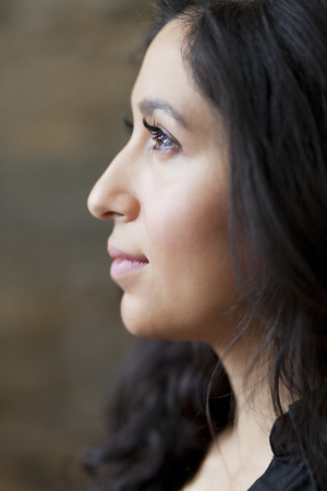 Profile Of A Spanish Woman Dreaming
