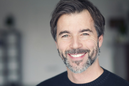 mature man: Portrait Of A Mature Man Smiling At The Camera
