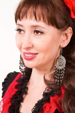 curly headed: closeup portrait