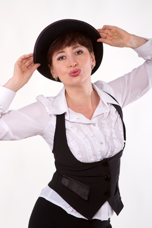 actress in hat  Stock Photo - 14332166