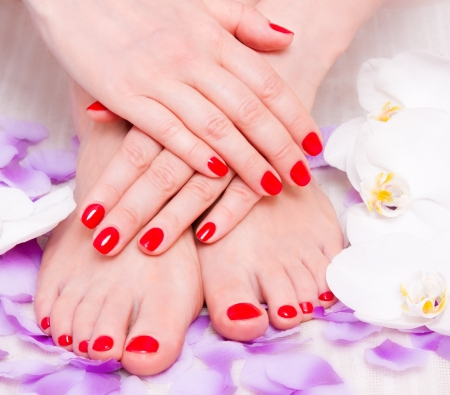manicure and pedicure photo