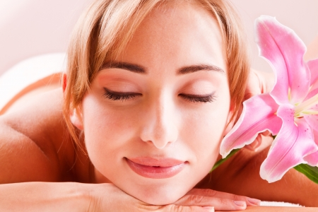 Beatiful women relax and break with closed eyes Stock Photo - 14994711
