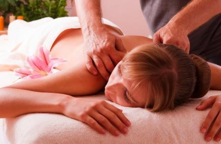 Massage body beatiful women relax in spa Stock Photo - 15489604