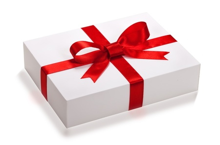 gift box over white background. photo
