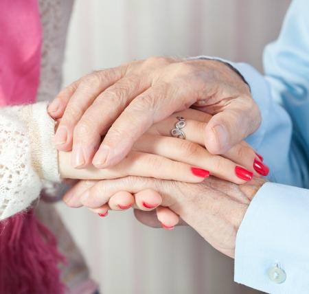 a care is at home of elderly Reklamní fotografie