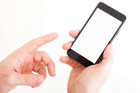 Mobile Smart Phone In Hands Stock Photo - 16608784