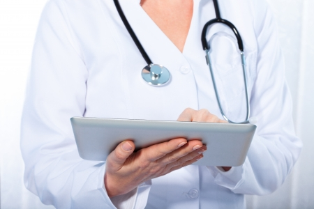 doctor working with  tablet, photo