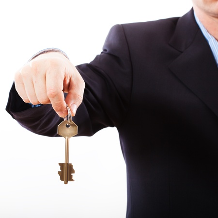 Key in hand businessman  photo