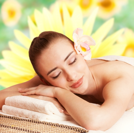 Beautiful woman relax in spa photo