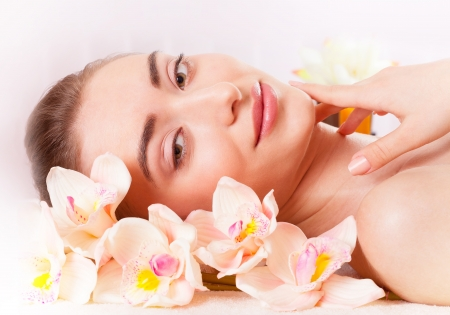 Beautiful woman relax in spa
