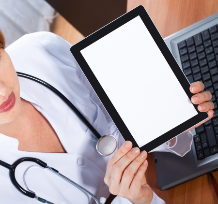 doctor working with  tablet, Stock Photo - 18532536