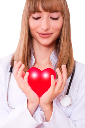 The doctor holding heart  Health insurance or love concept  photo
