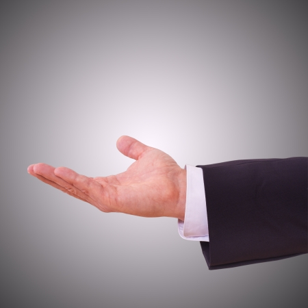 Business man with empty hand Stock Photo - 23182649