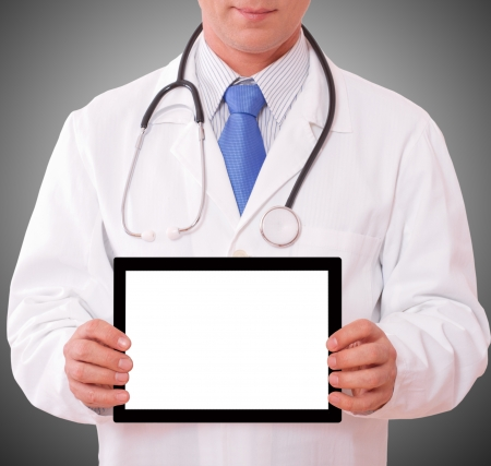 doctor working with tablet  closeup Stock Photo - 23182655