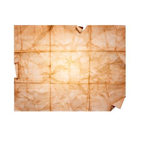 feuille froiss�e: Feuille de papier froiss� vieux, cru Banque d'images