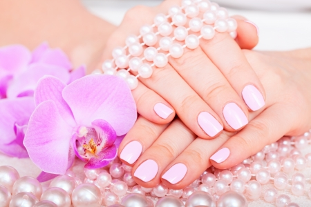 manicure and pedicure. body care, spa treatments photo