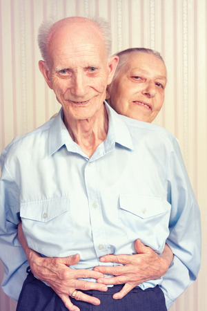 home health care: Senior Man, Woman with their at Home  Concept of Health Care for Elderly Old People, Disabled