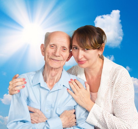 home health care: Senior Man, Woman with their Caregiver at Home  Concept of Health Care for Elderly Old People, Disabled