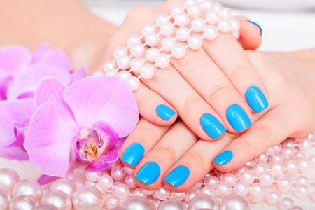 manicure and pedicure  body care, spa treatments Stock Photo - 25806522