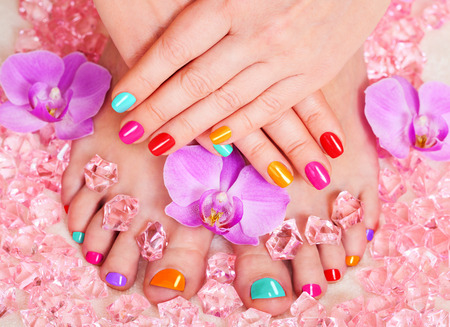 manicure and pedicure spa treatments photo