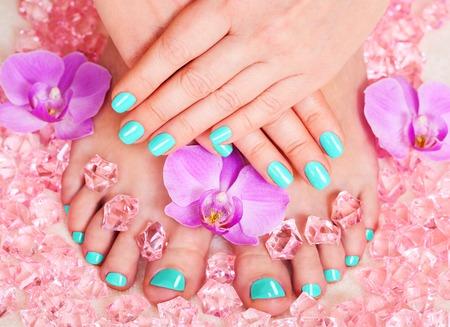 pedicura: tratamientos de spa de manicura y pedicura