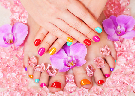 pedicure: manicure and pedicure Stock Photo