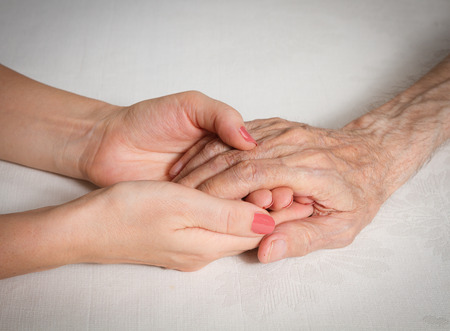home health care: Care is at home of elderly. Concept of health care for elderly old people, disabled