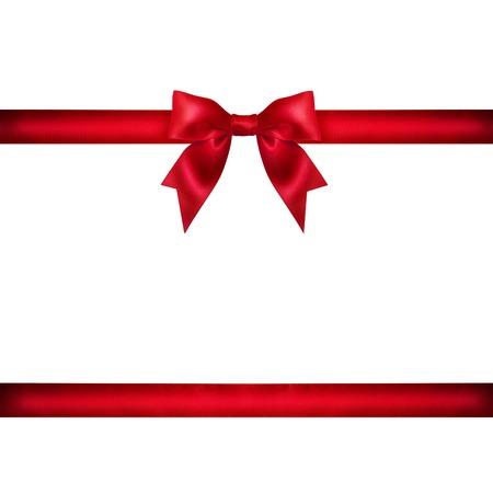 Rotes Band mit Schwänzen isoliert auf weißem Hintergrund Standard-Bild - 34536319