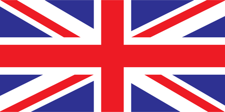 u k: vector image of british flag close up