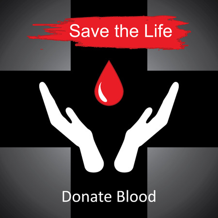 donor: World blood donor day-June 14th. vector illustration