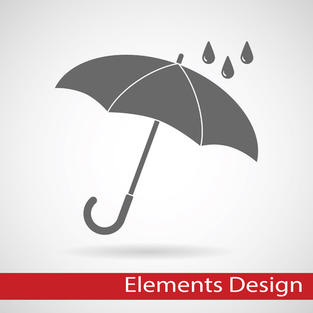 umbrella: Vector umbrella logo. Umbrella icon, umbrella and rain symbol, umbrella silhouette shape, umbrellas weather icon, umbrella interface element