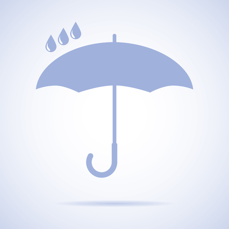 umbrella rain: Vector umbrella logo. Umbrella icon, umbrella and rain symbol, umbrella silhouette shape, umbrellas weather icon, umbrella interface element