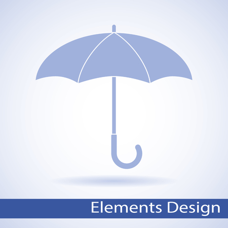beach closed: Vector umbrella logo. Umbrella icon, umbrella and rain symbol, umbrella silhouette shape, umbrellas weather icon, umbrella interface element