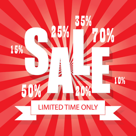 percentages: SALE poster colorful background with letters, numbers and percentages