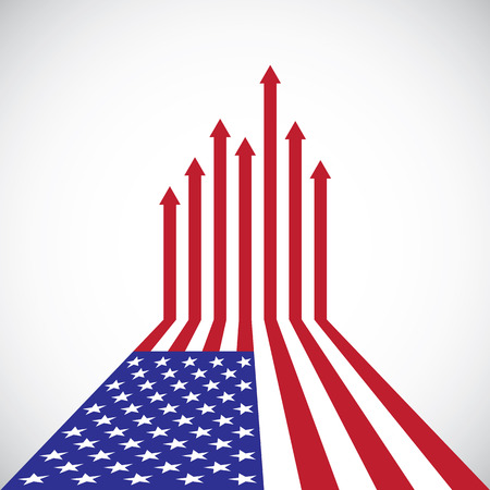 Creative American Flag, red arrows, vector illustration Ilustrace
