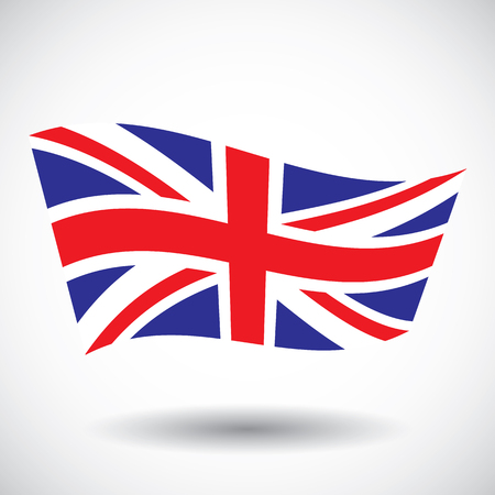 british isles: waving flag of England vector llustration on white background Illustration