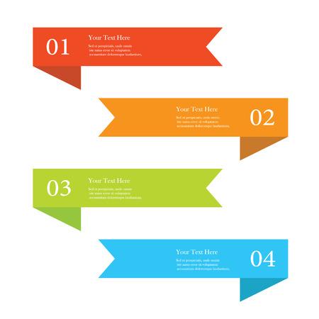 Set van kleurrijke lint aantal opties banners Stockfoto - 48438028