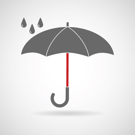 umbrella rain: Vector umbrella . Umbrella icon, umbrella and rain symbol, umbrella silhouette shape, umbrellas weather icon, umbrella interface element