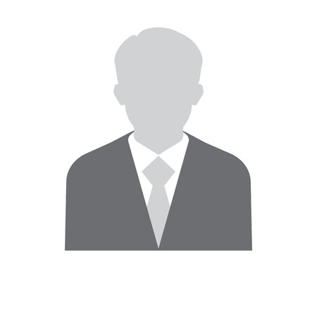 profile picture: Businessman silhouette avatar profile picture. Businessman vector image of man in suit and tie. Abstract image of businessman flet icon.