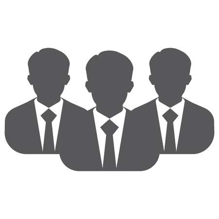 profile picture: Businessman silhouette avatar profile picture group, team. Businessman vector image of man in suit and tie.