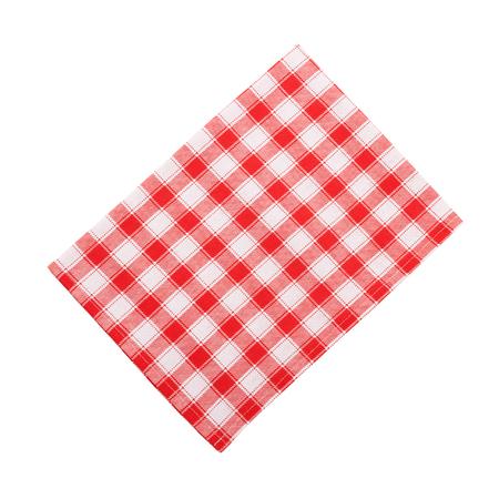 dishtowel: Napkin. Stack of colorful dish towels isolated on white