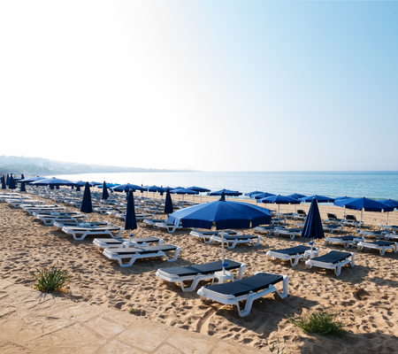 briny: Beach in the morning at sunrise in Ayia Napa on the island of Cyprus