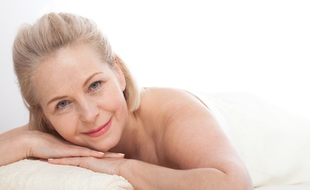 Portrait of beautiful woman in spa environment