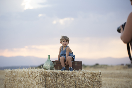 Child in the wheat field